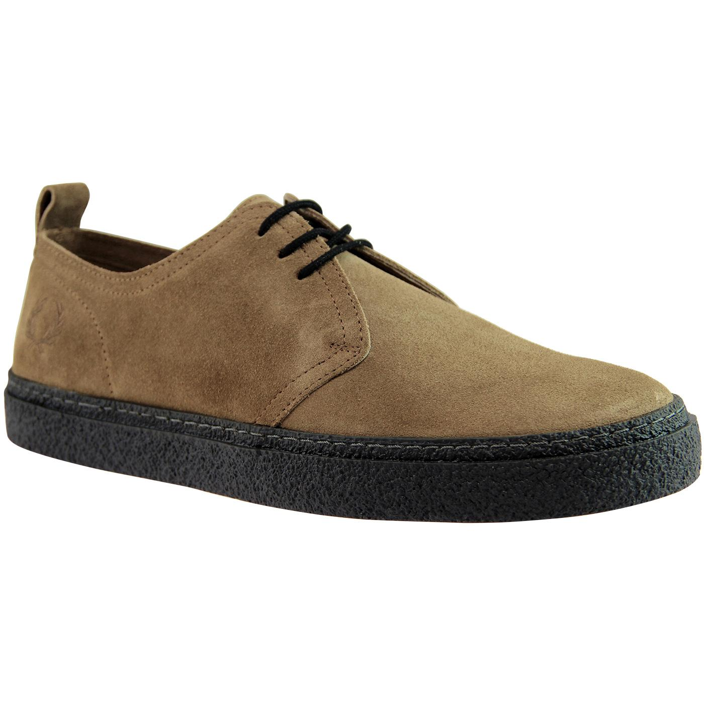 becdbb40480f FRED PERRY  Linden  Retro Mod Suede Shoes in Almond