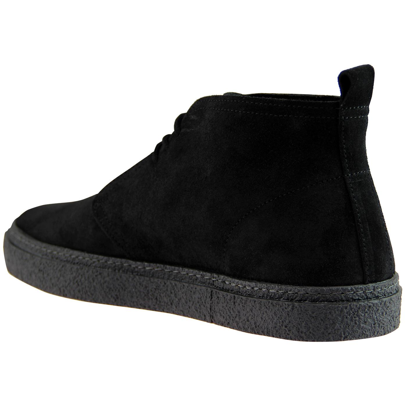 24bf256c57a FRED PERRY 'Hawley' Retro Mod Desert Boots in Black