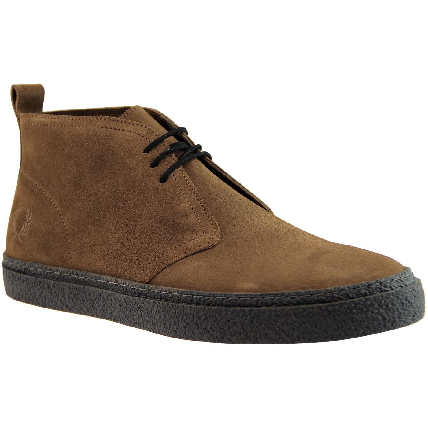 Hawley FRED PERRY Retro Mod Desert Boots - Tobacco