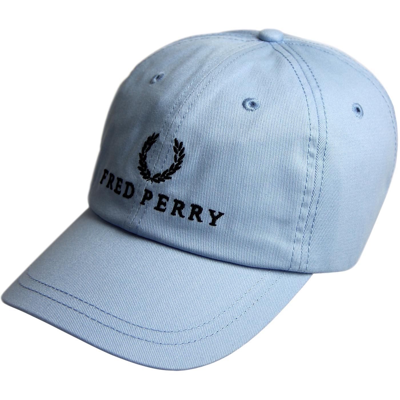 FRED PERRY Retro 90s Tennis Baseball Cap (Glacier)