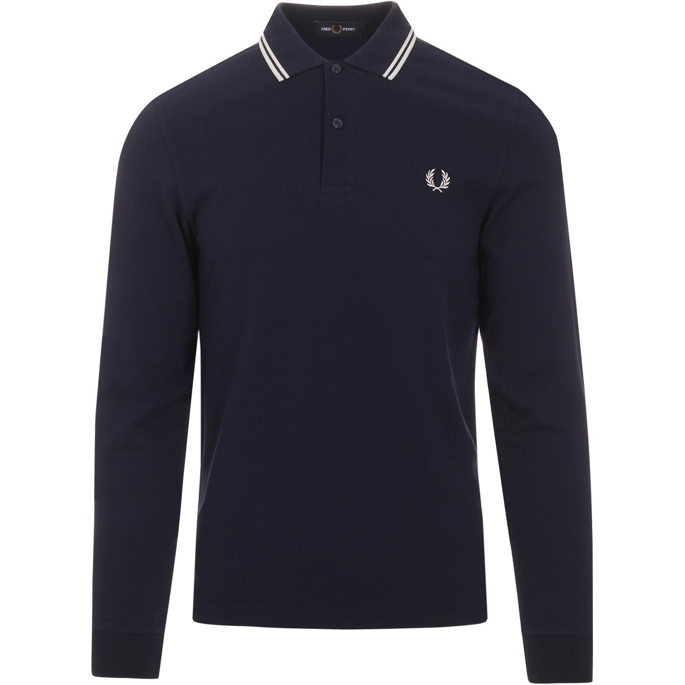FRED PERRY Mod Twin Tipped Long Sleeve Polo (CB)