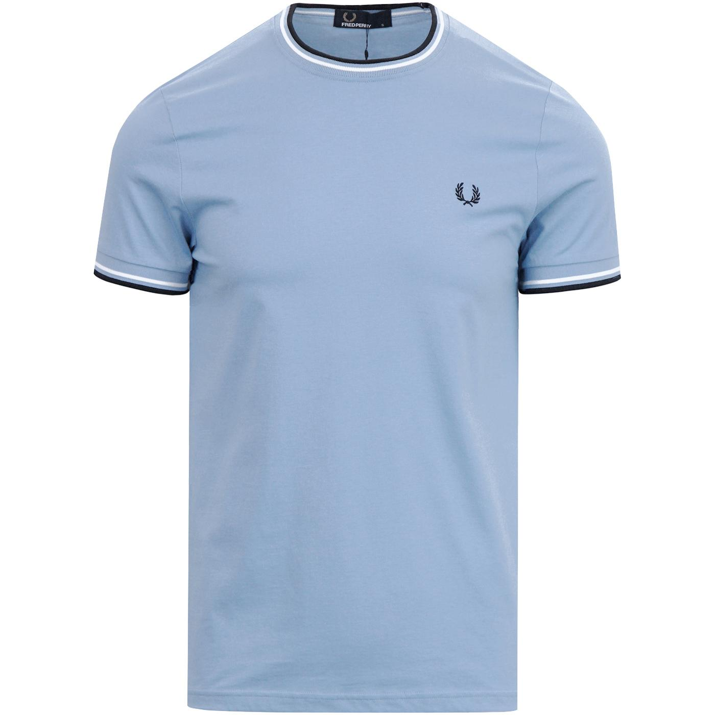 FRED PERRY Retro Mod Twin Tipped Crew T-Shirt S/W