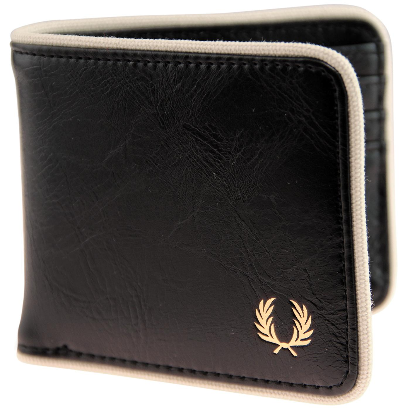 FRED PERRY Classic Billfold Logo Wallet - Black