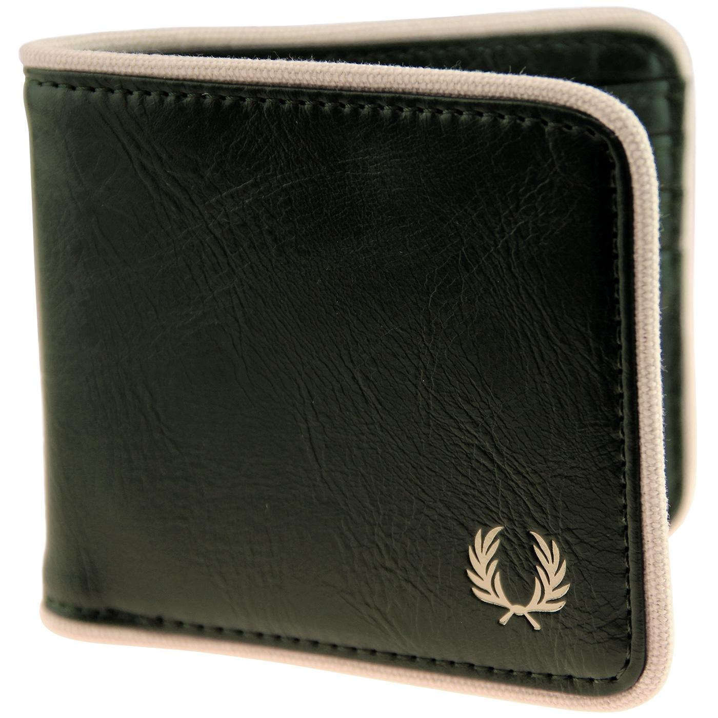 FRED PERRY Classic Logo Billfold Wallet - Forest
