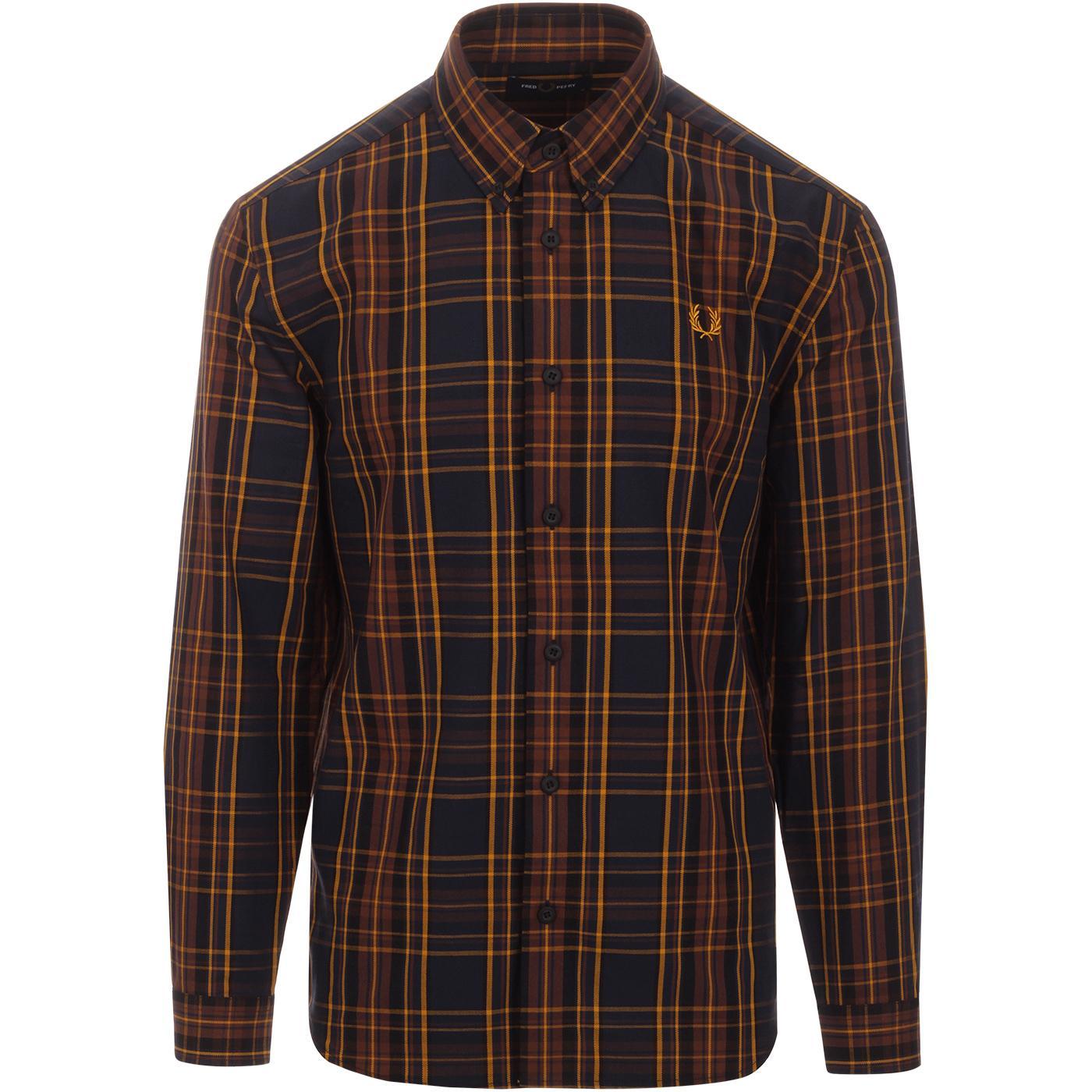 FRED PERRY Mod Winter Tartan Button Down Shirt MB