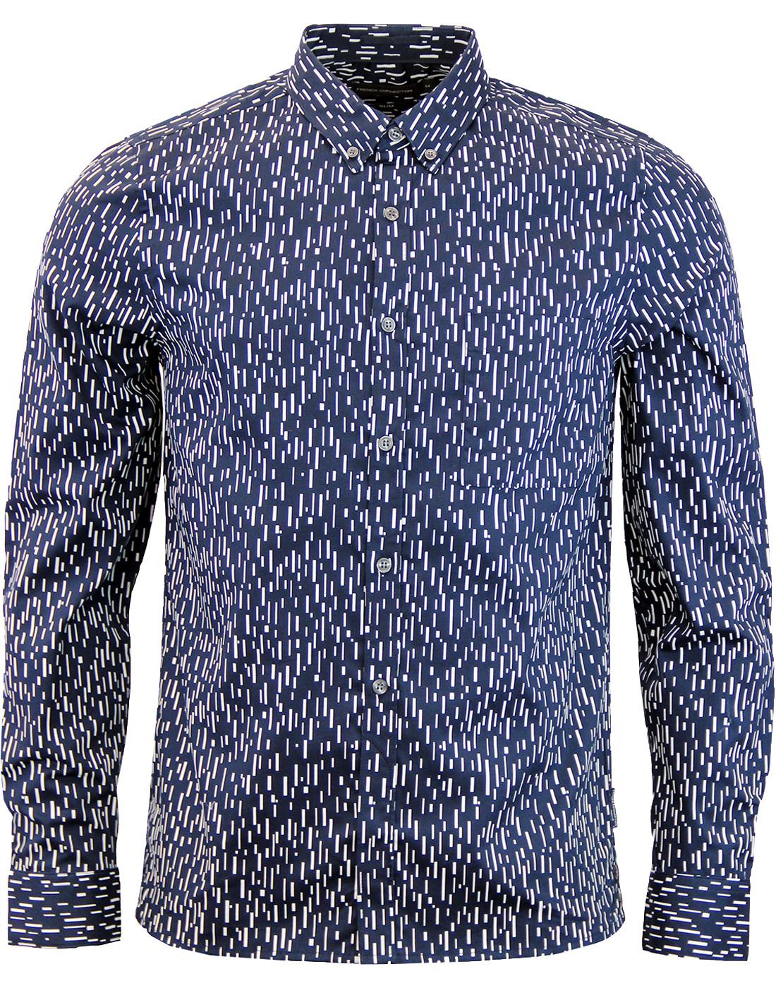FRENCH CONNECTION 60s Rain Dash Oxford Shirt