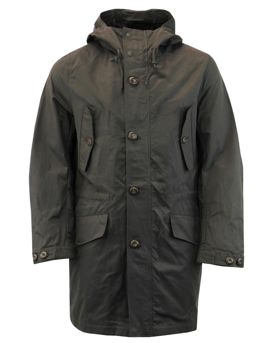 FRENCH CONNECTION Mod Wax Canvas Fishtail Parka