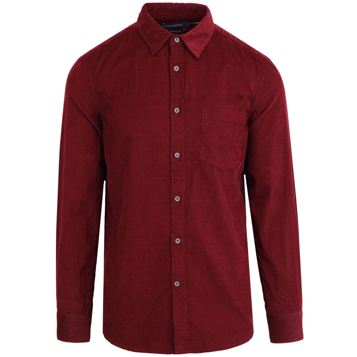 FRENCH CONNECTION Men's Retro Mod Cord Shirt (RR)