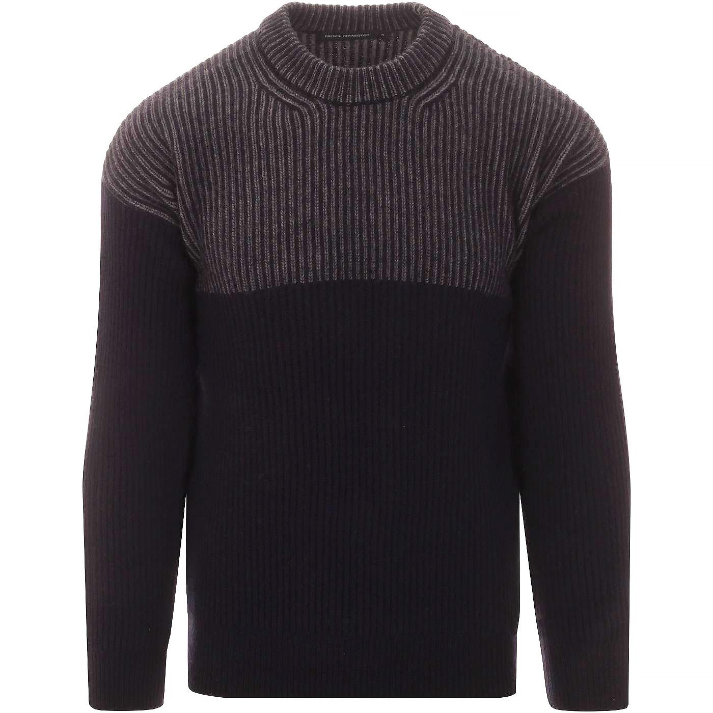 FRENCH CONNECTION Ribbed Fishermans Stripe Jumper