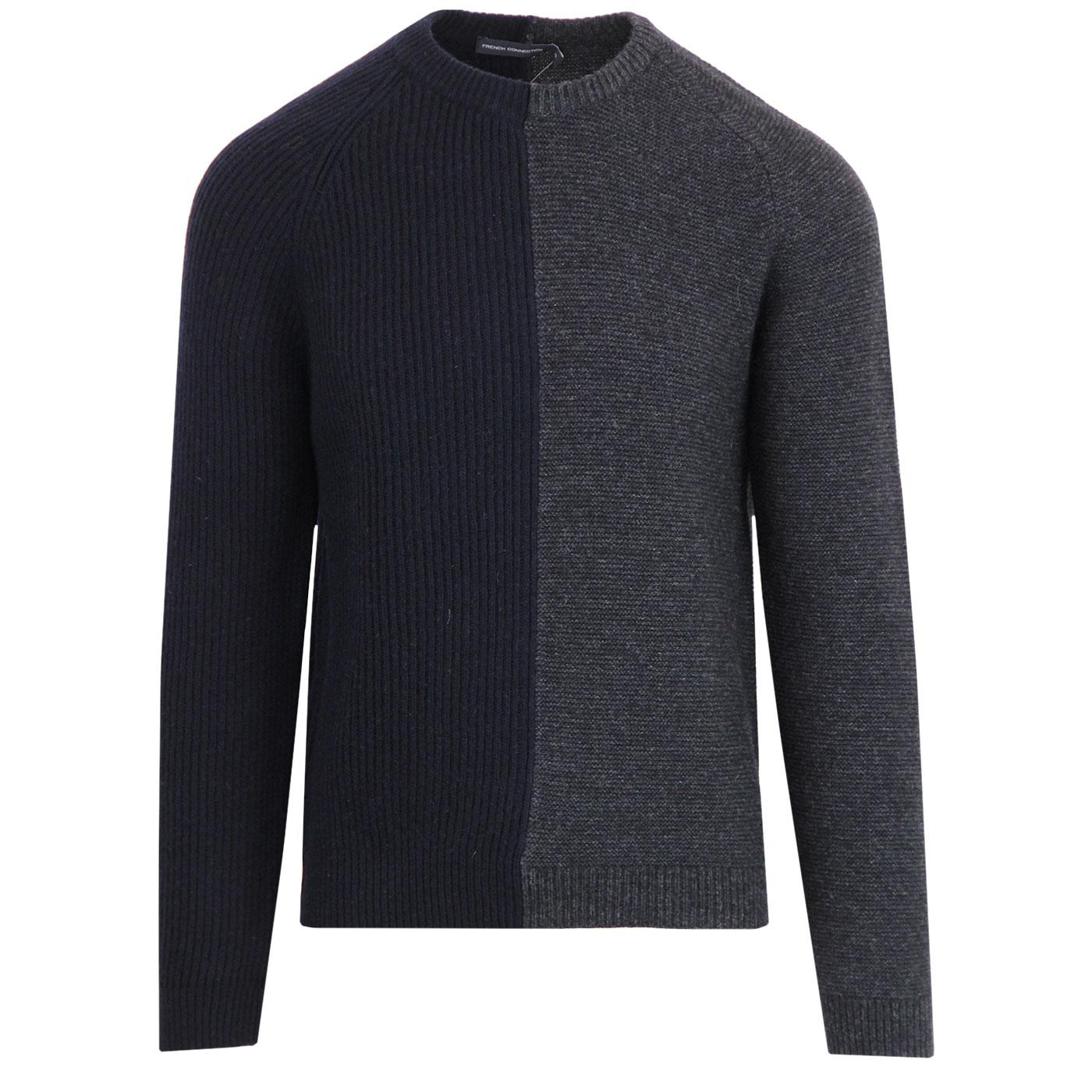 FRENCH CONNECTION Mod Split Panel Lambswool Jumper