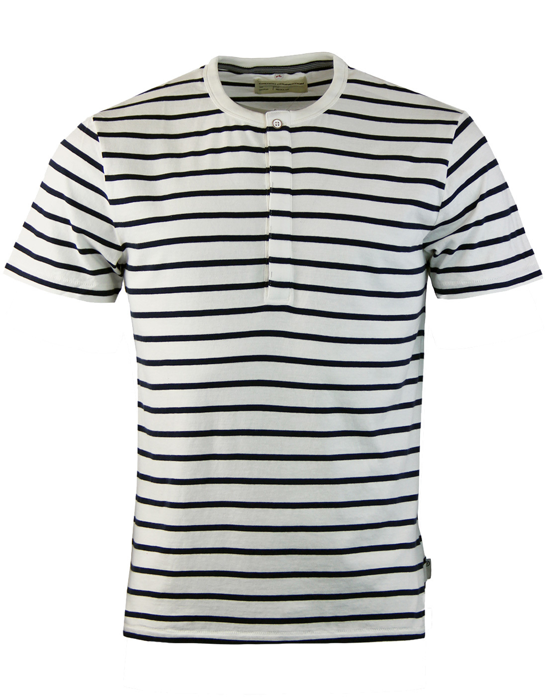 FRENCH CONNECTION Jean Stripe Henley Breton Tee