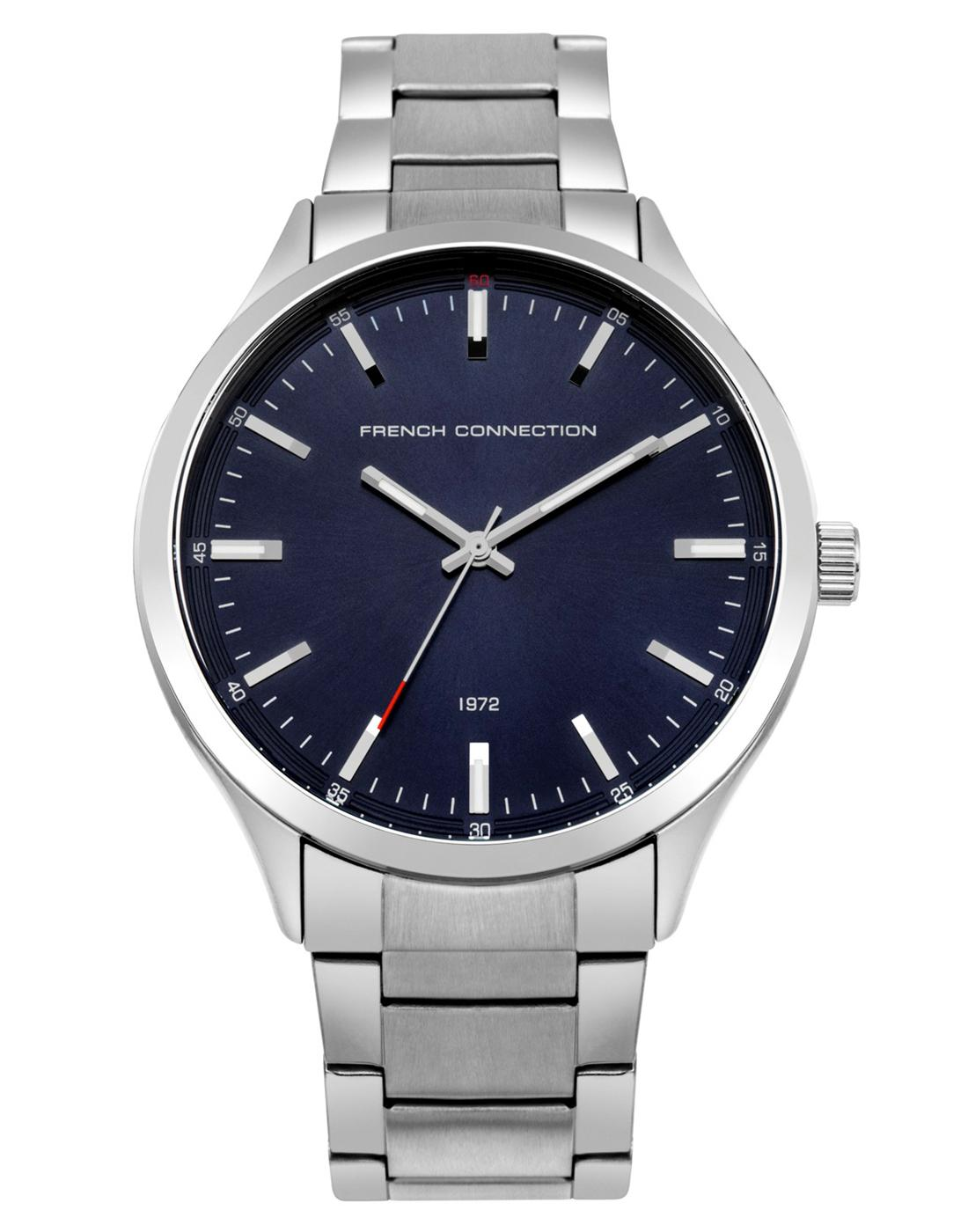 FRENCH CONNECTION Retro Blue Dial Bracelet Watch