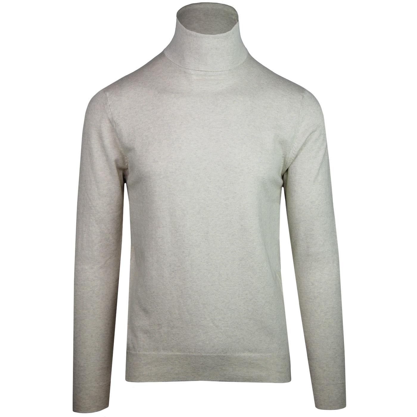 FRENCH CONNECTION 60s Mod Roll Neck Jumper (Fog)