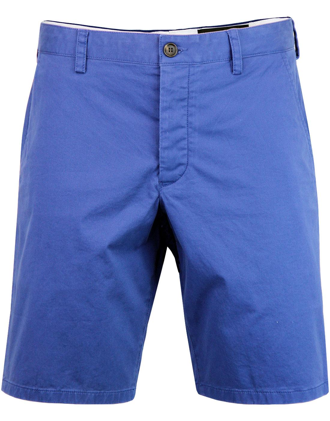 FRENCH CONNECTION Machine Gun Stretch Shorts BLUE