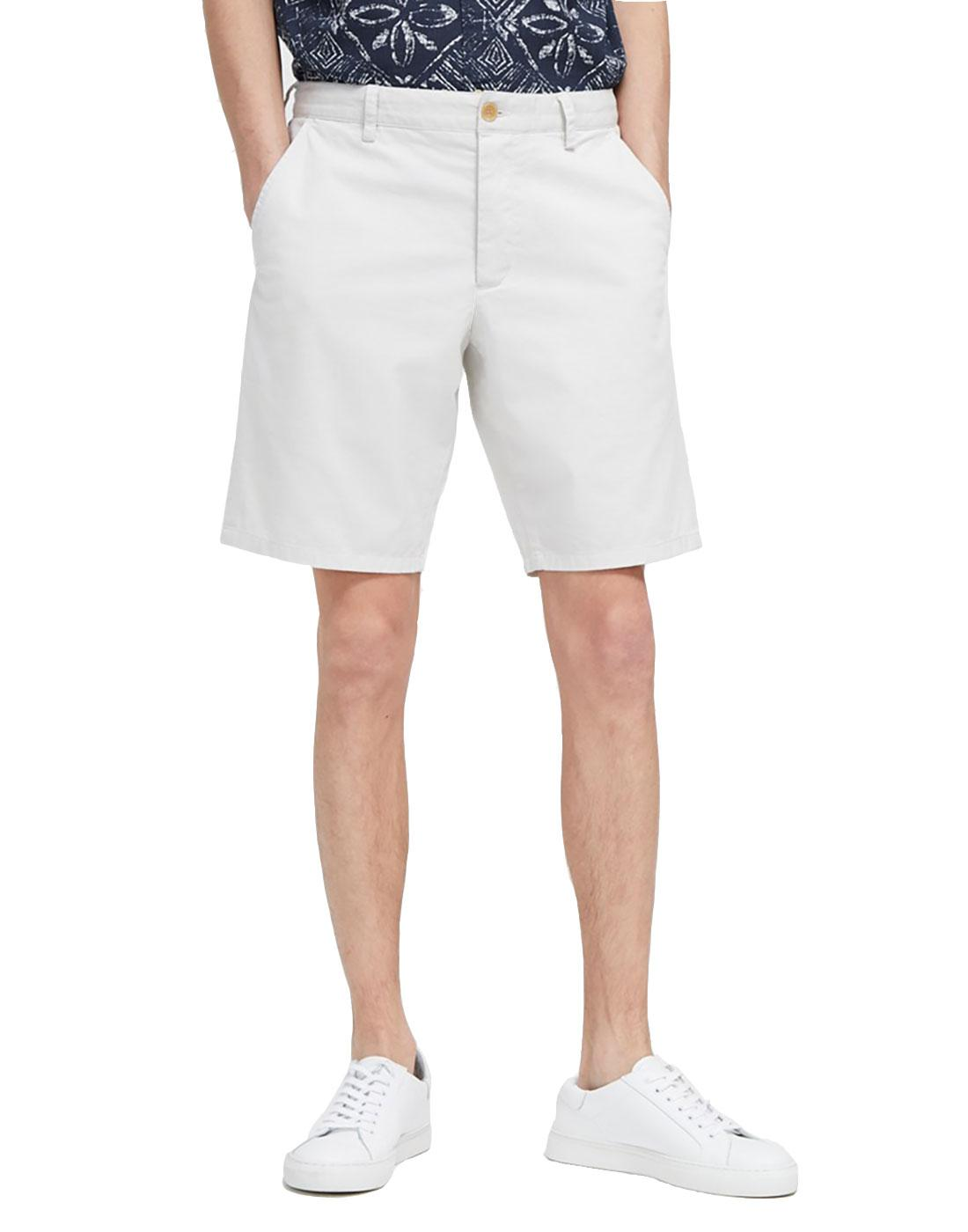 FRENCH CONNECTION Machine Gun Stretch Shorts WHITE
