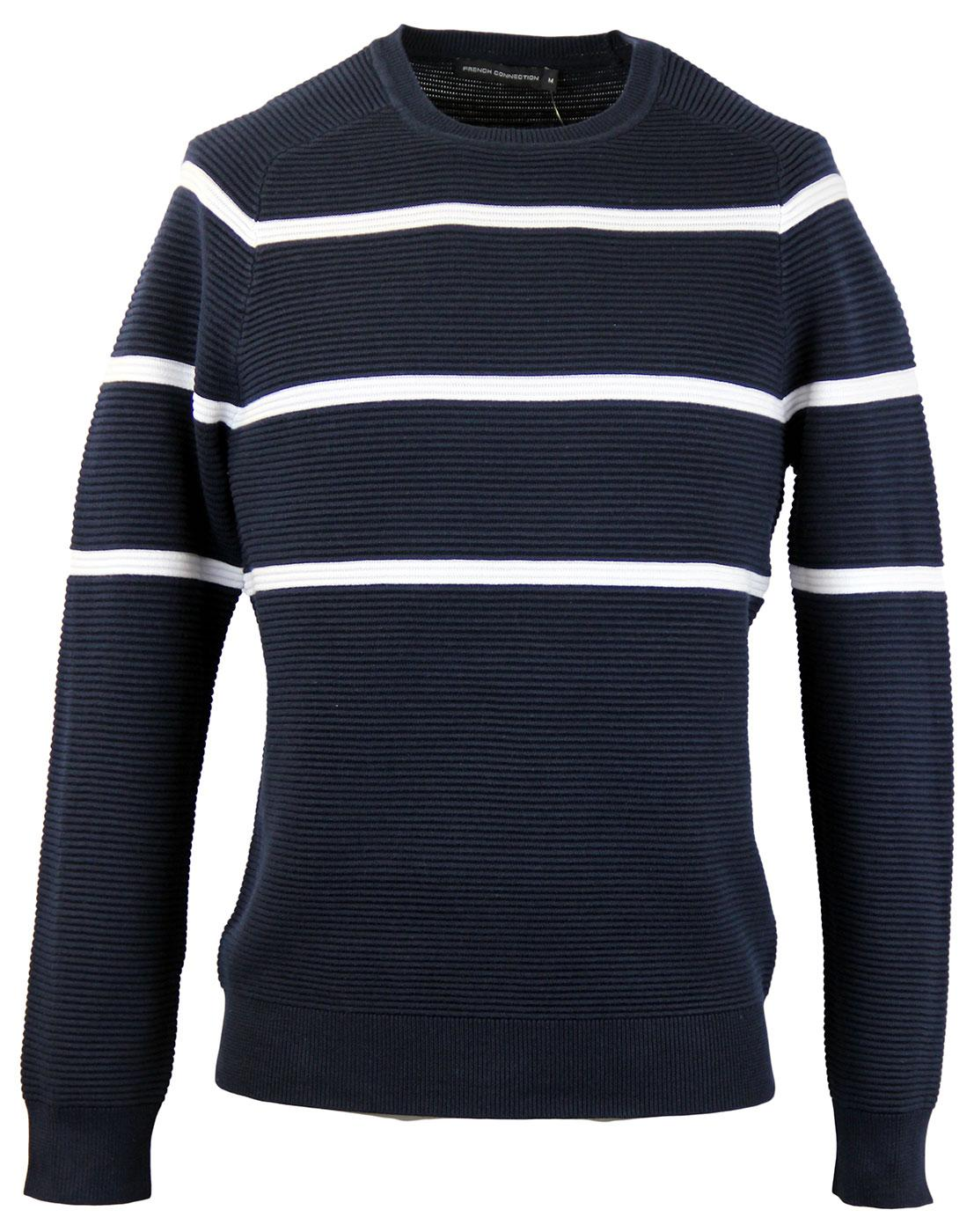 FRENCH CONNECTION Mod Ottoman Knit Stripe Jumper