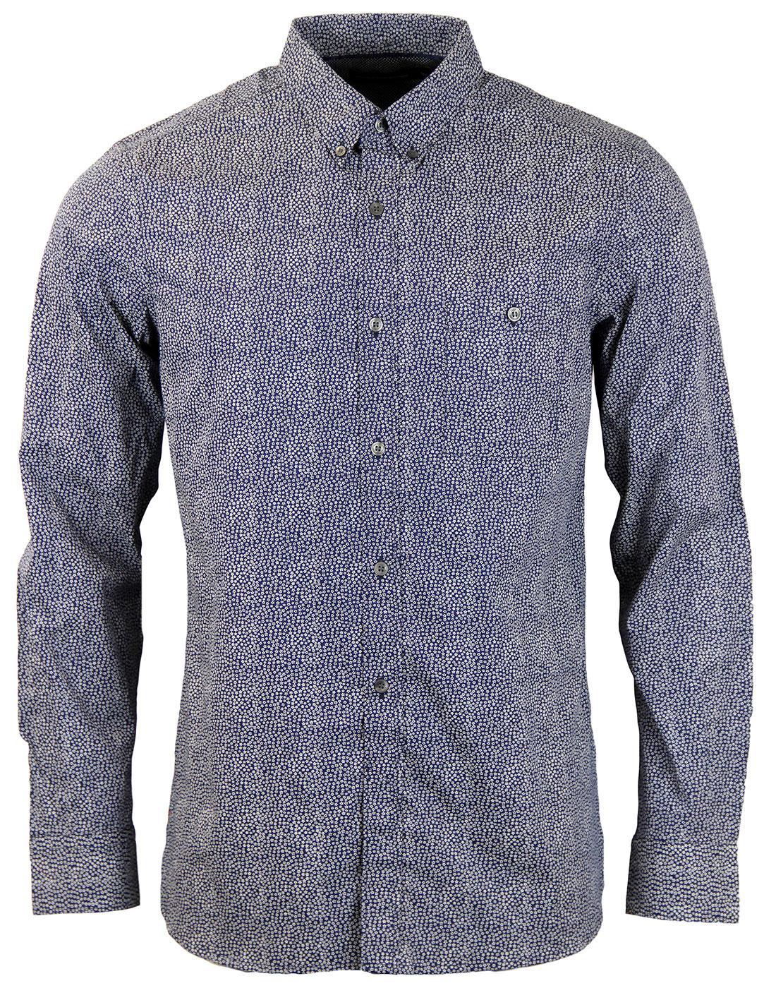 FRENCH CONNECTION Kabenje Retro Mini Floral Shirt