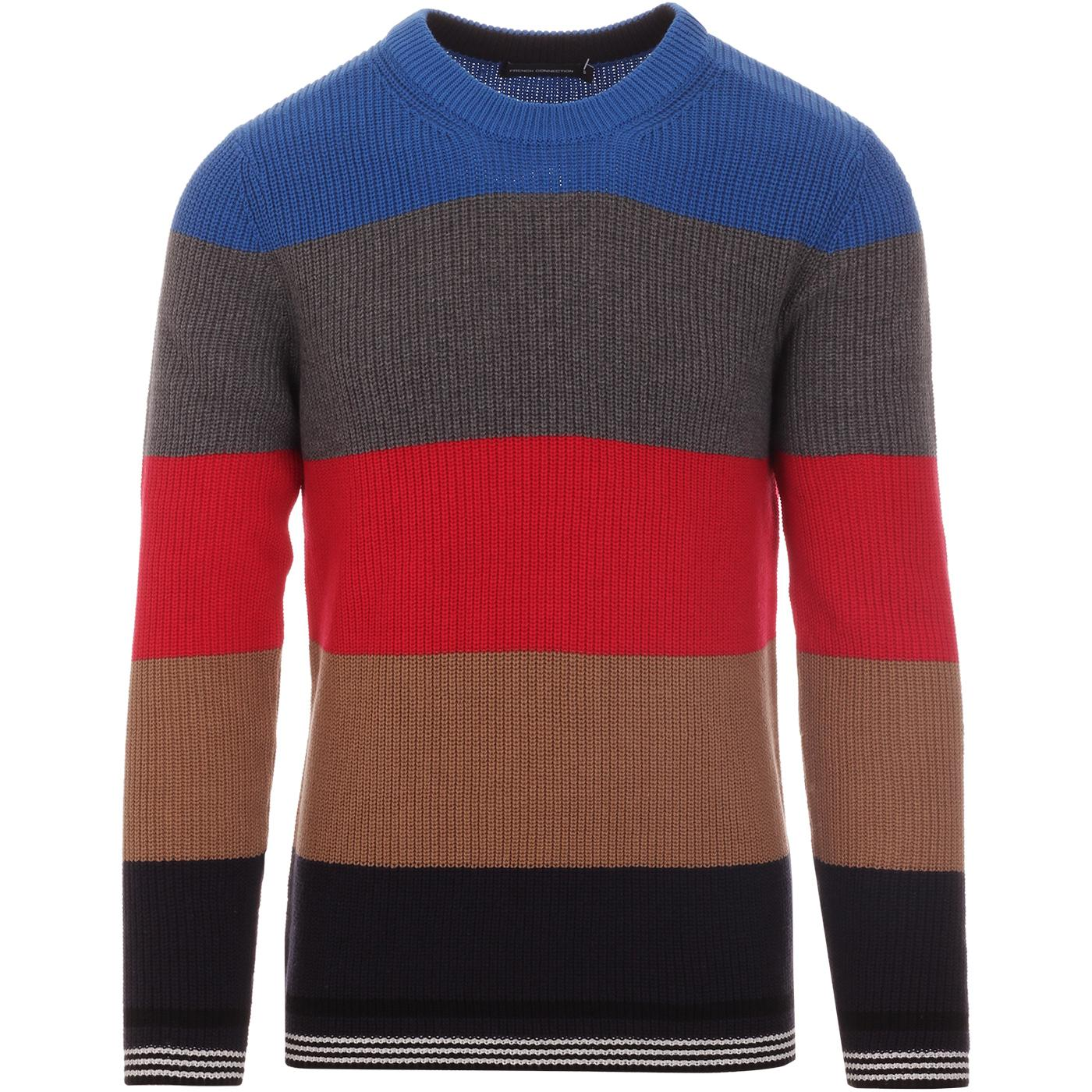 FRENCH CONNECTION Retro Indie Block Stripe Jumper