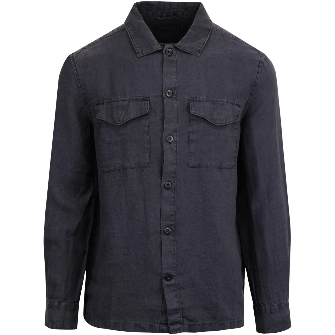 FRENCH CONNECTION Two Pocket Retro Linen Shirt