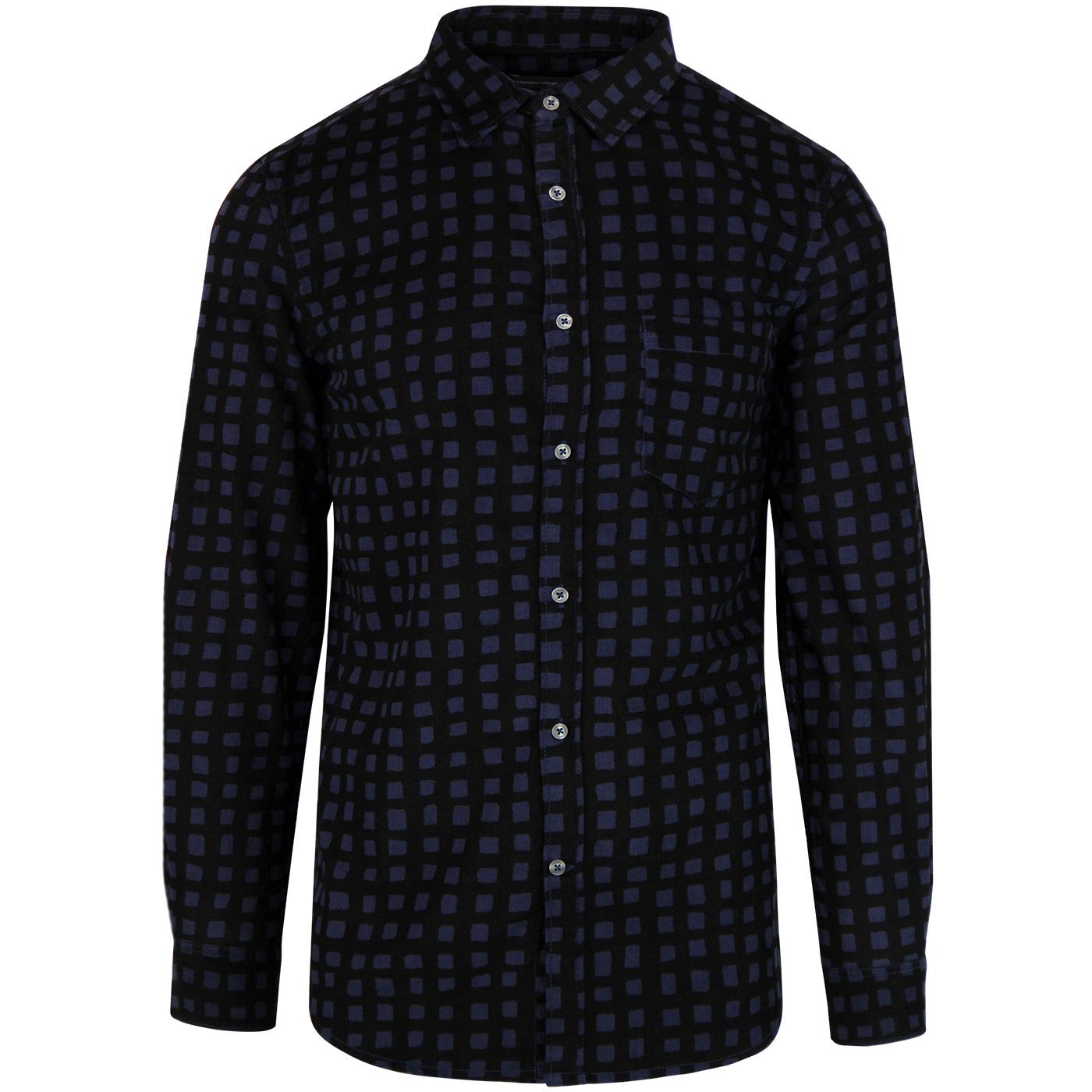 FRENCH CONNECTION Retro Mod Gridlock Cord Shirt