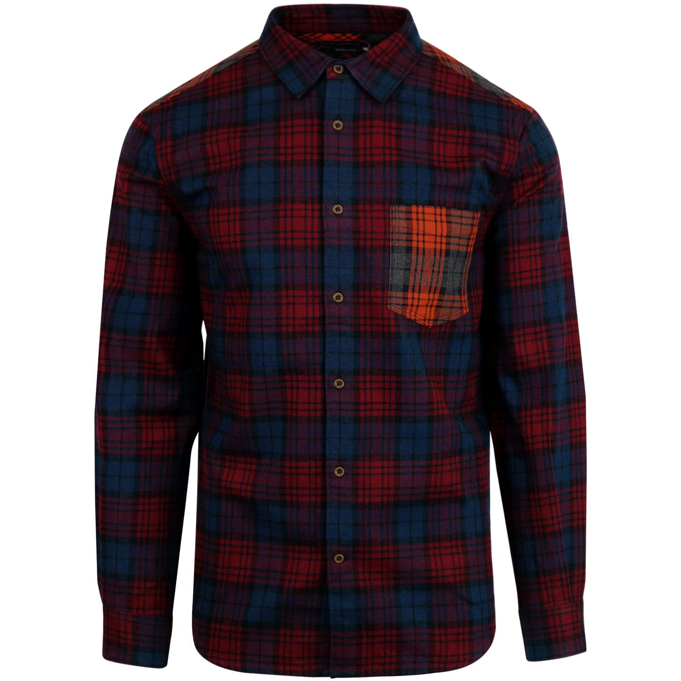 FRENCH CONNECTION Retro Mod Flannel Tartan Shirt