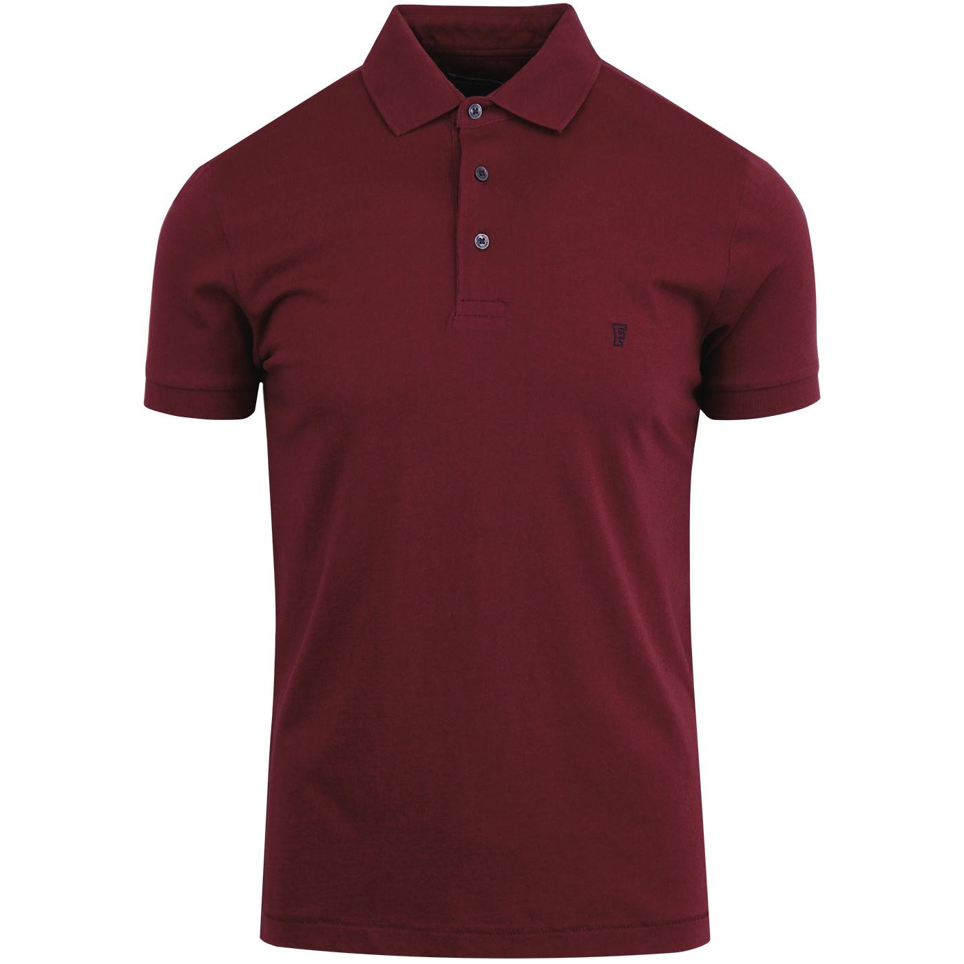 Sneezy FRENCH CONNECTION Mod Jersey Polo RED