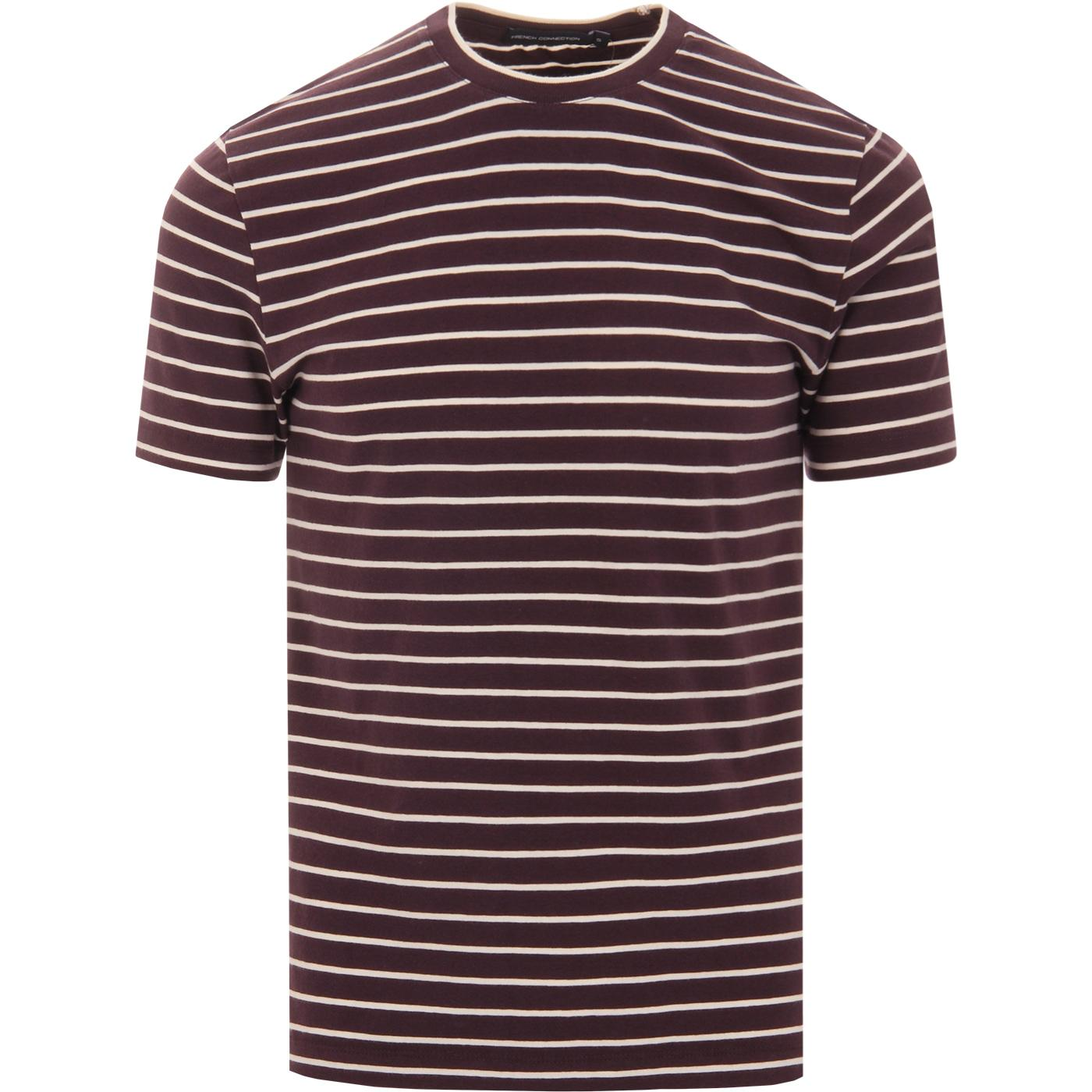 FRENCH CONNECTION Retro Mod Stripe Crew T-shirt