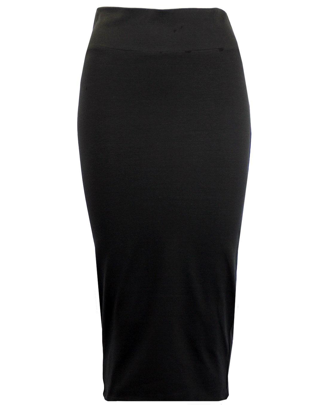 eUKalyptus Retro 1950s Style Pencil Skirt in Black