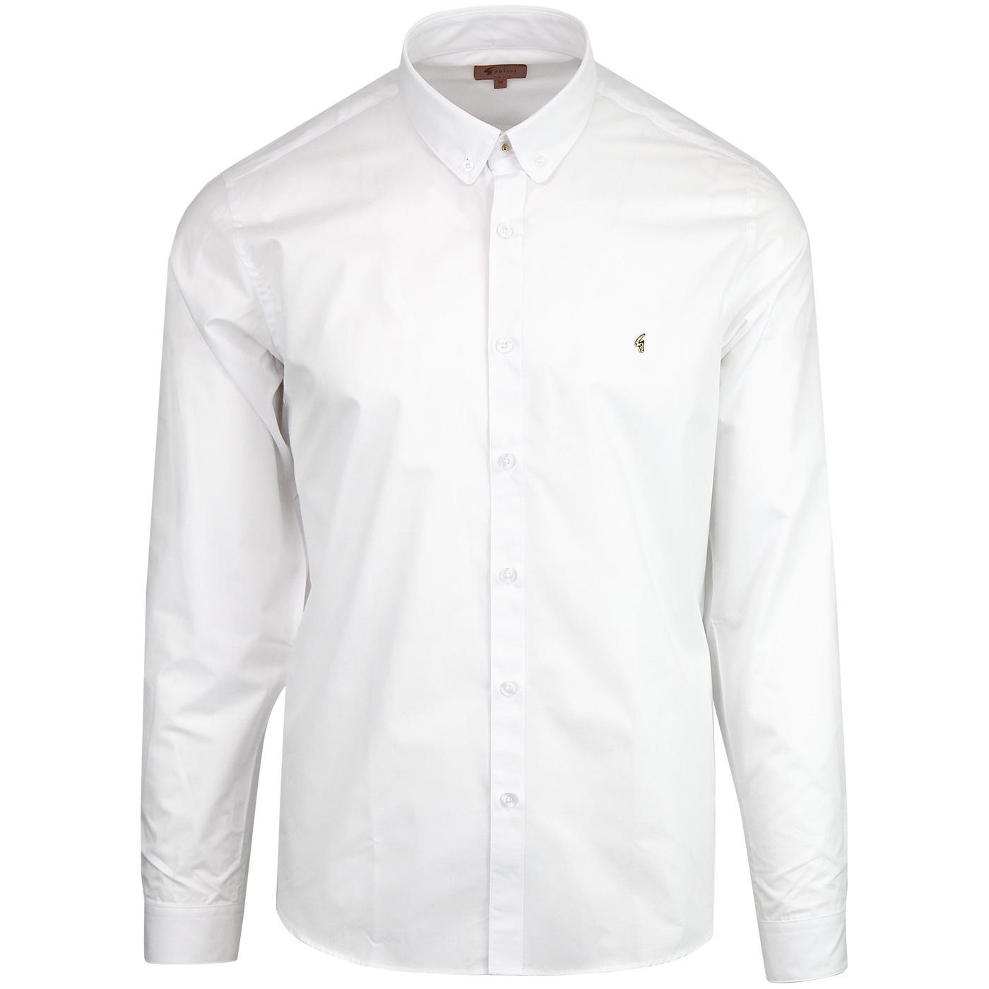 Antonio GABICCI VINTAGE 60s Mod Stud Collar Shirt