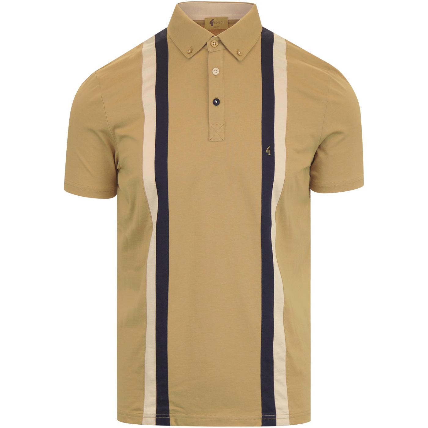 Dale GABICCI VINTAGE Contrast Stripe Jersey Polo