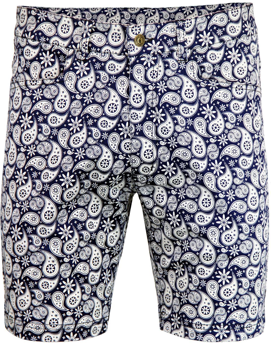 Dalveen GABICCI VINTAGE 60's Paisley Twill Shorts