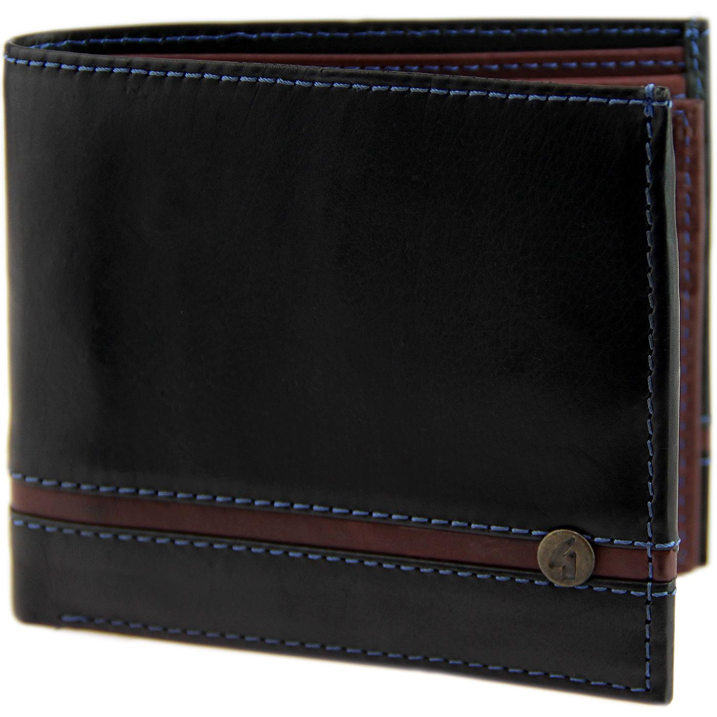 GABICCI VINTAGE Retro Leather Gatefold Wallet (B)