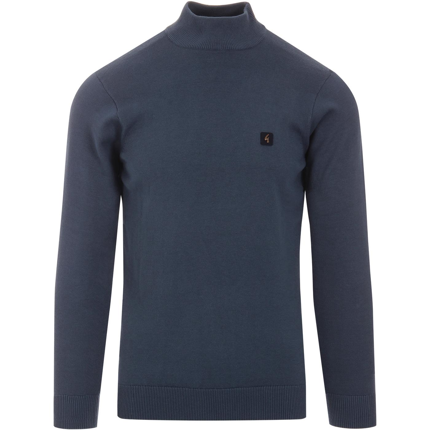 Duke GABICCI VINTAGE Mock Turtleneck Jumper STORM