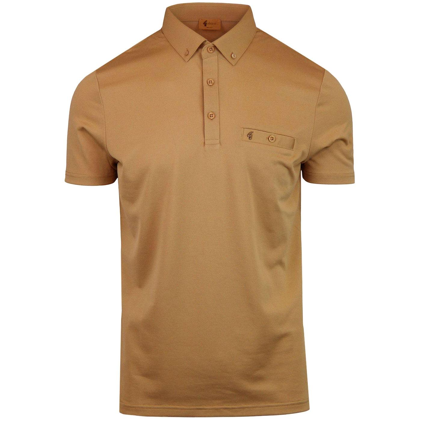 Ladro GABICCI VINTAGE Mod Polo Shirt BUTTERSCOTCH