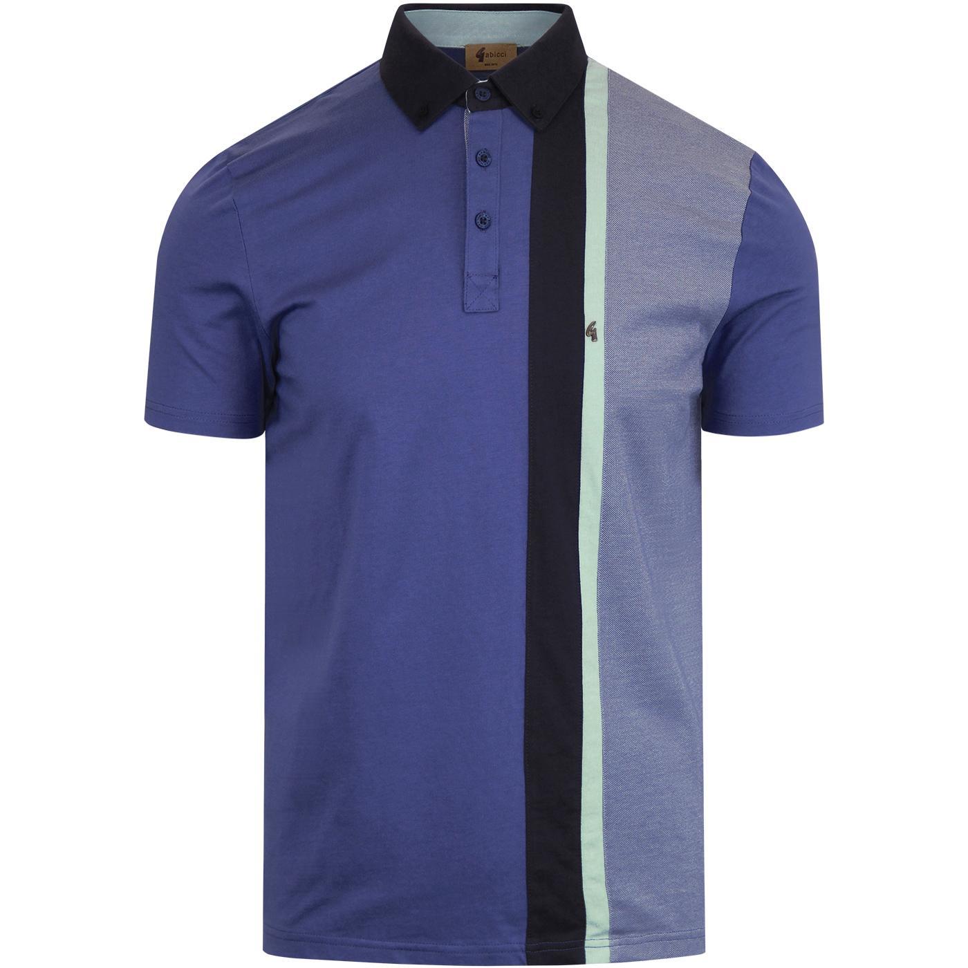 Landau GABICCI VINTAGE Retro Cut & Sew Stripe Polo
