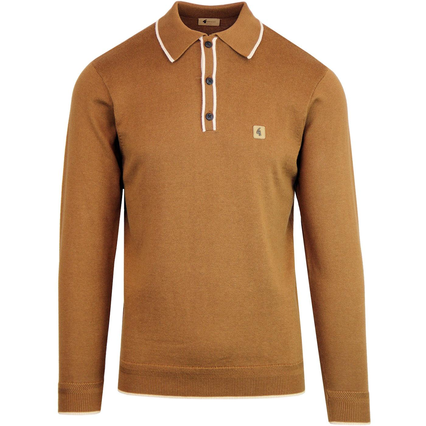 Lineker GABICCI VINTAGE Mod Knitted Tipped Polo T