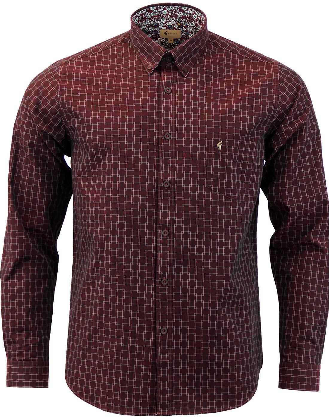 Newcross GABICCI VINTAGE Tonal Pattern Shirt P