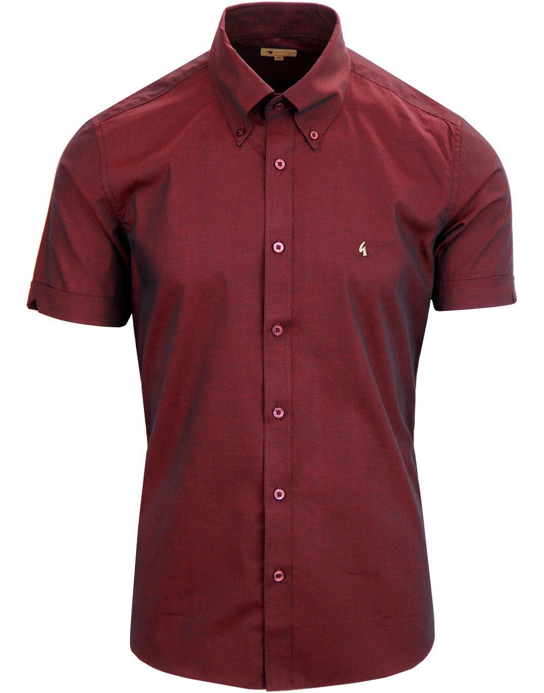 Pimlico GABICCI VINTAGE Retro Mod Tonic Shirt PORT