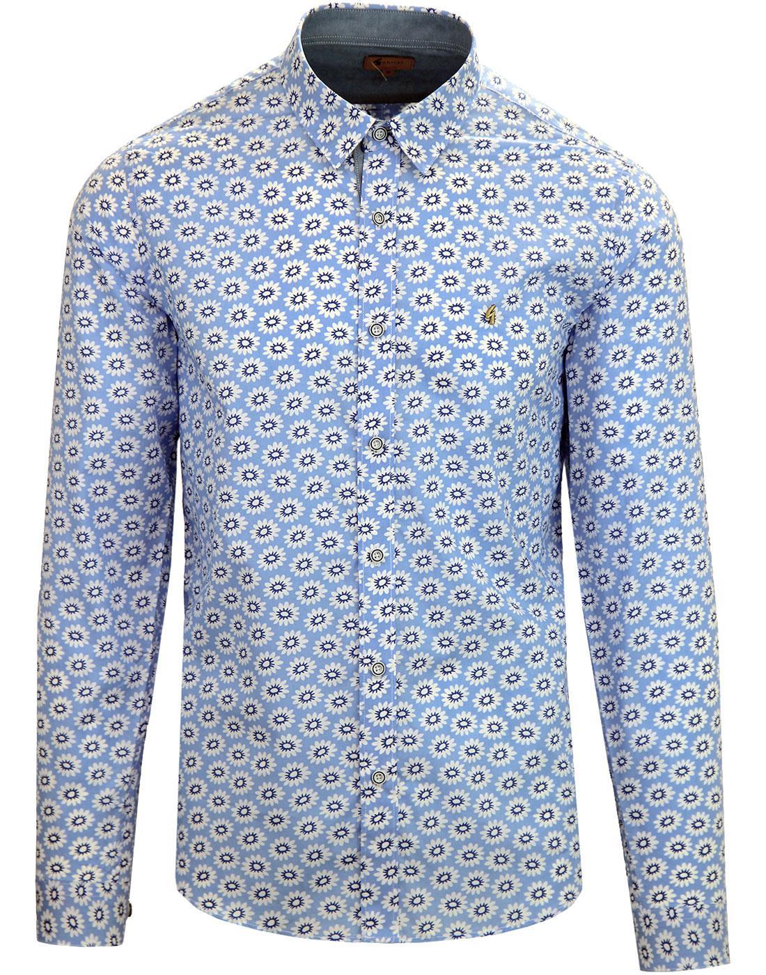 Rama GABICCI VINTAGE Retro Mod Floral Shirt DAWN