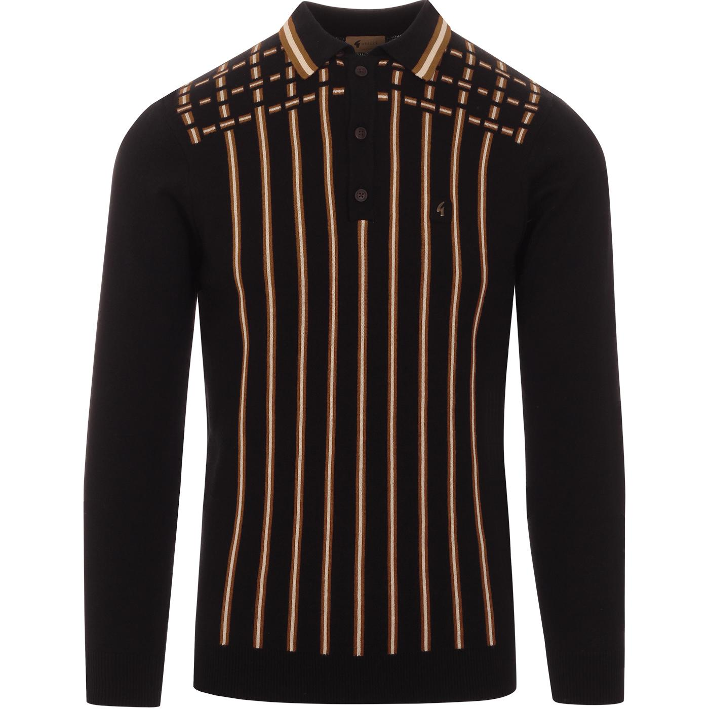 Biome GABICCI VINTAGE Mod Dash Stripe Knit Polo B