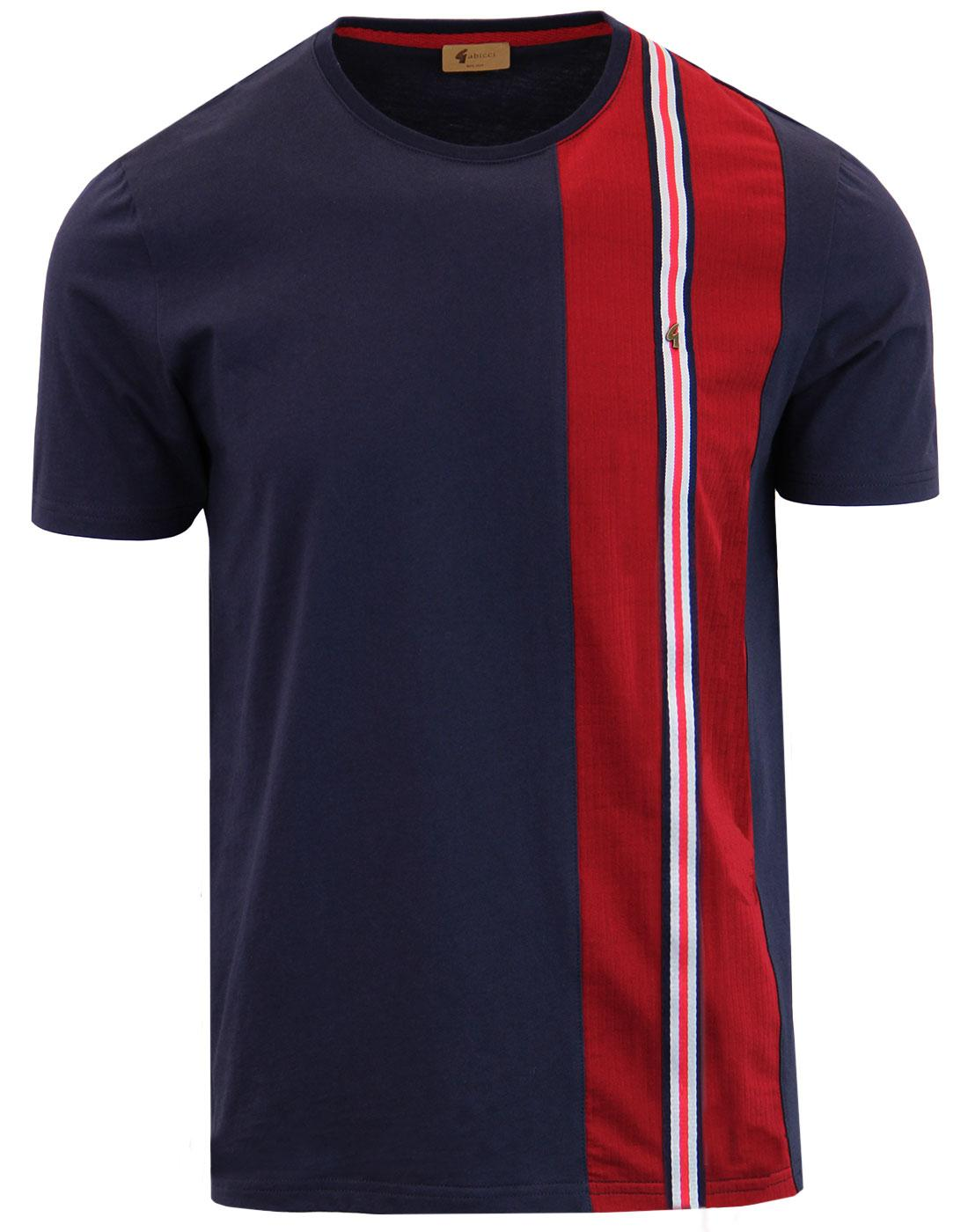 Beta GABICCI VINTAGE Mod Racing Stripe Panel Tee N
