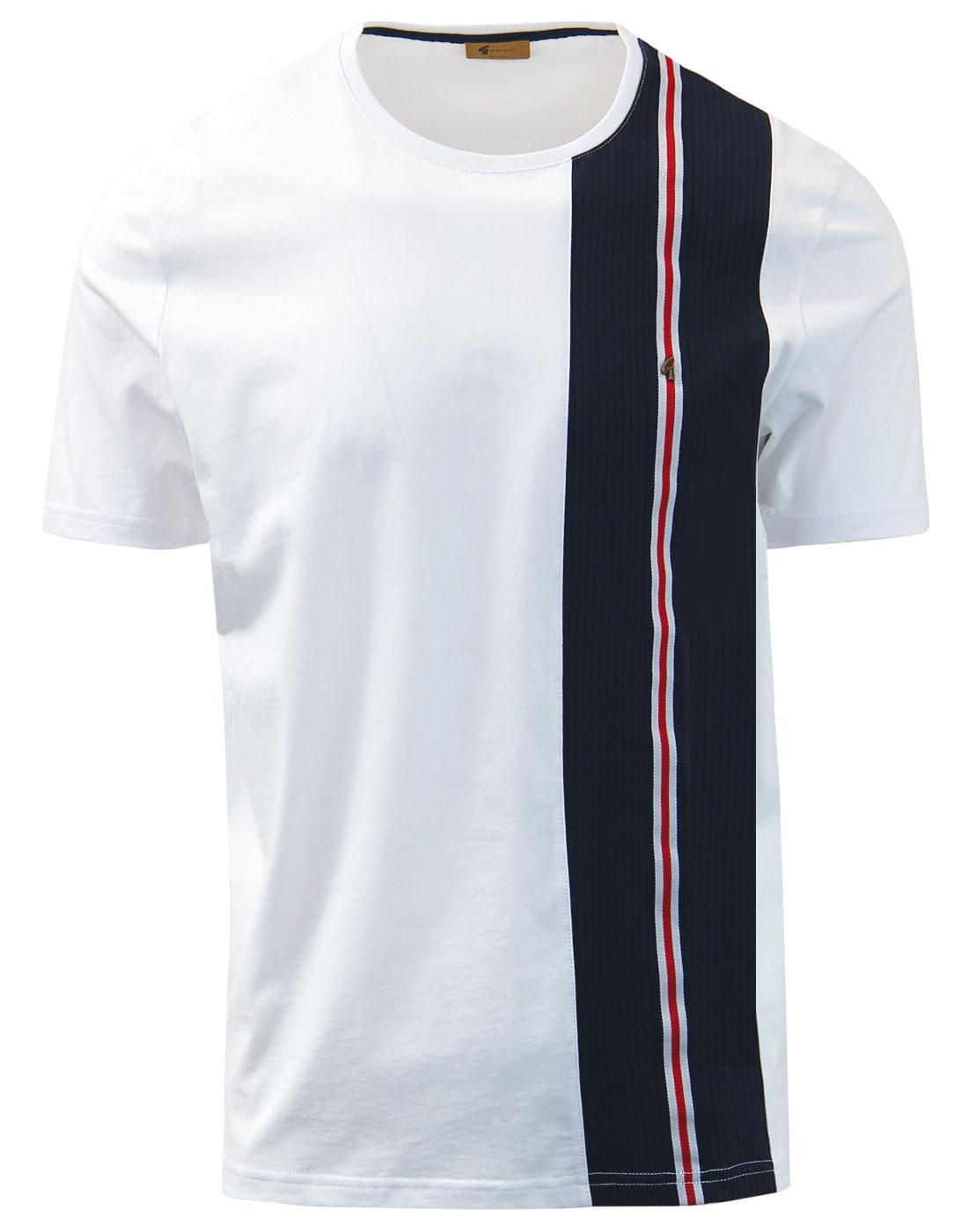 Beta GABICCI VINTAGE Retro Mod Stripe Panel Tee W