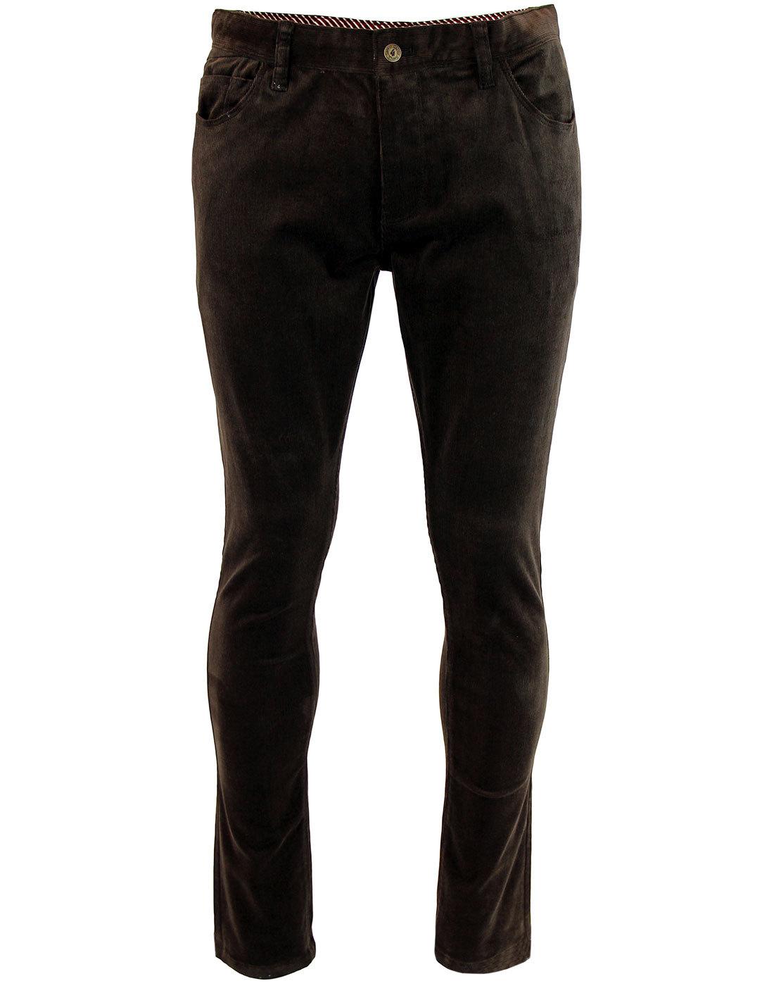 GABICCI VINTAGE Retro Mod Slim Leg Cord Trousers