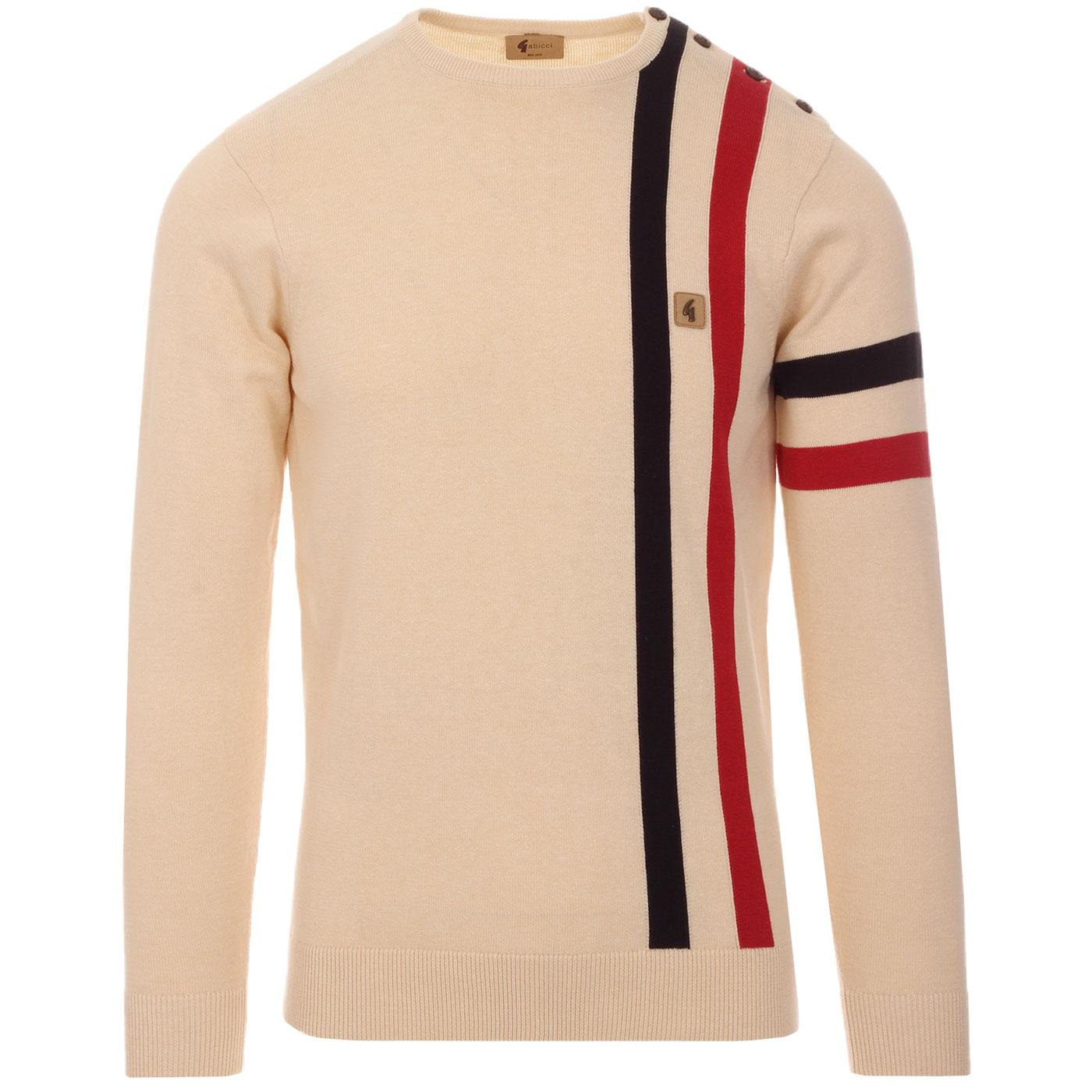 Eclipse GABICCI VINTAGE Mod Racing Stripe Jumper O