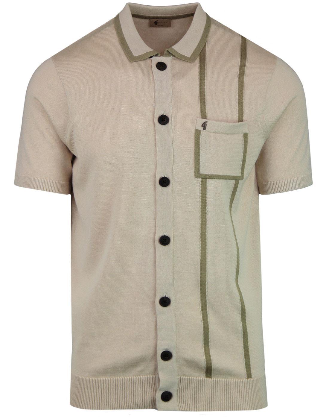 Enquirer GABICCI VINTAGE 60s Knit Polo Cardigan O