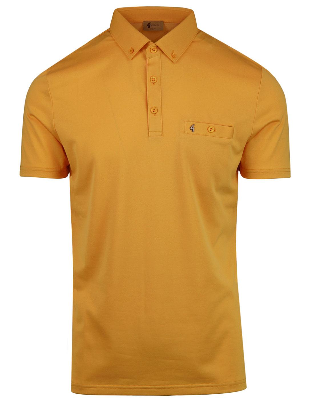 GABICCI VINTAGE Ladro Mod Button Down Polo Top in Butter 03bbfb780