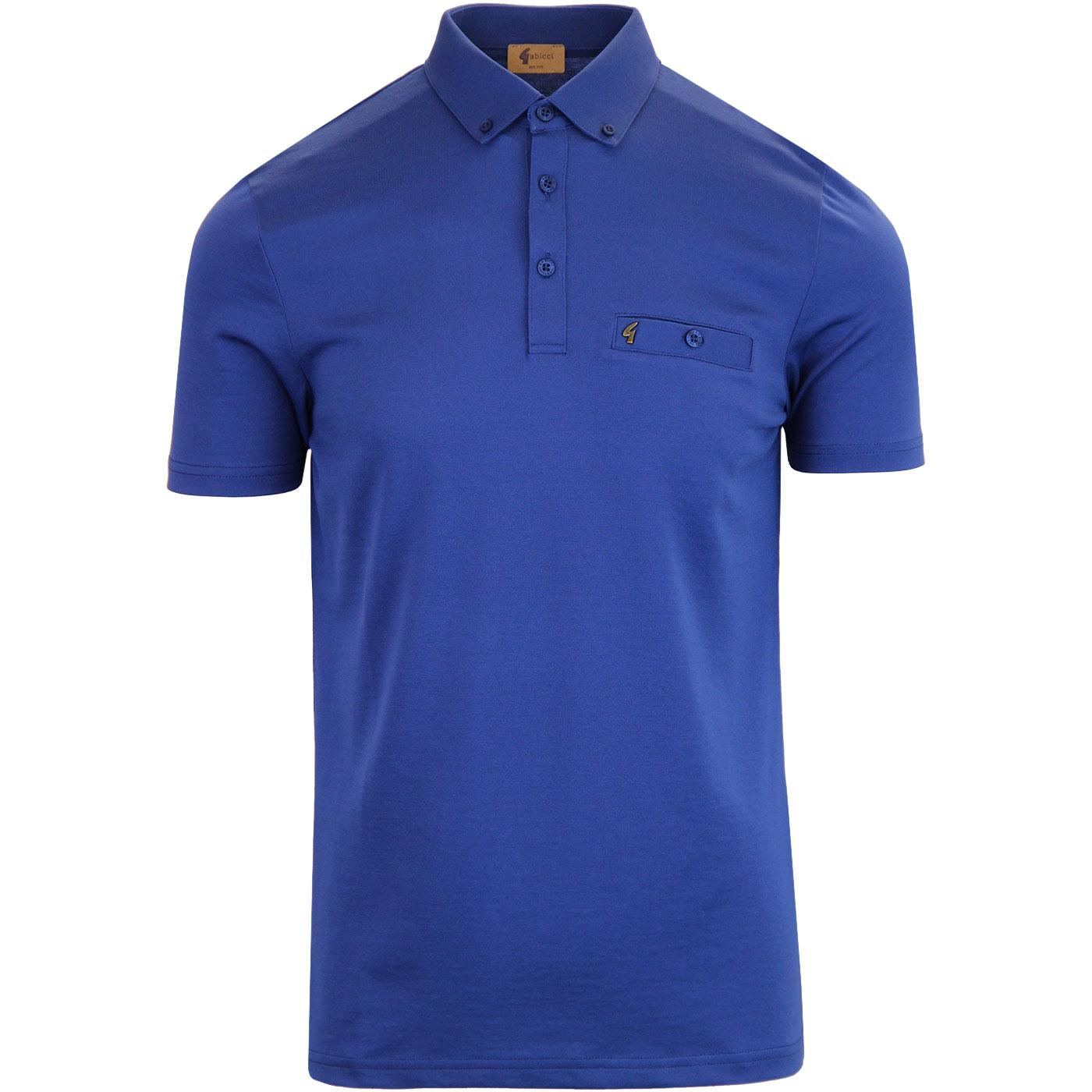 Ladro GABICCI VINTAGE Mod Button Down Polo (Blue)