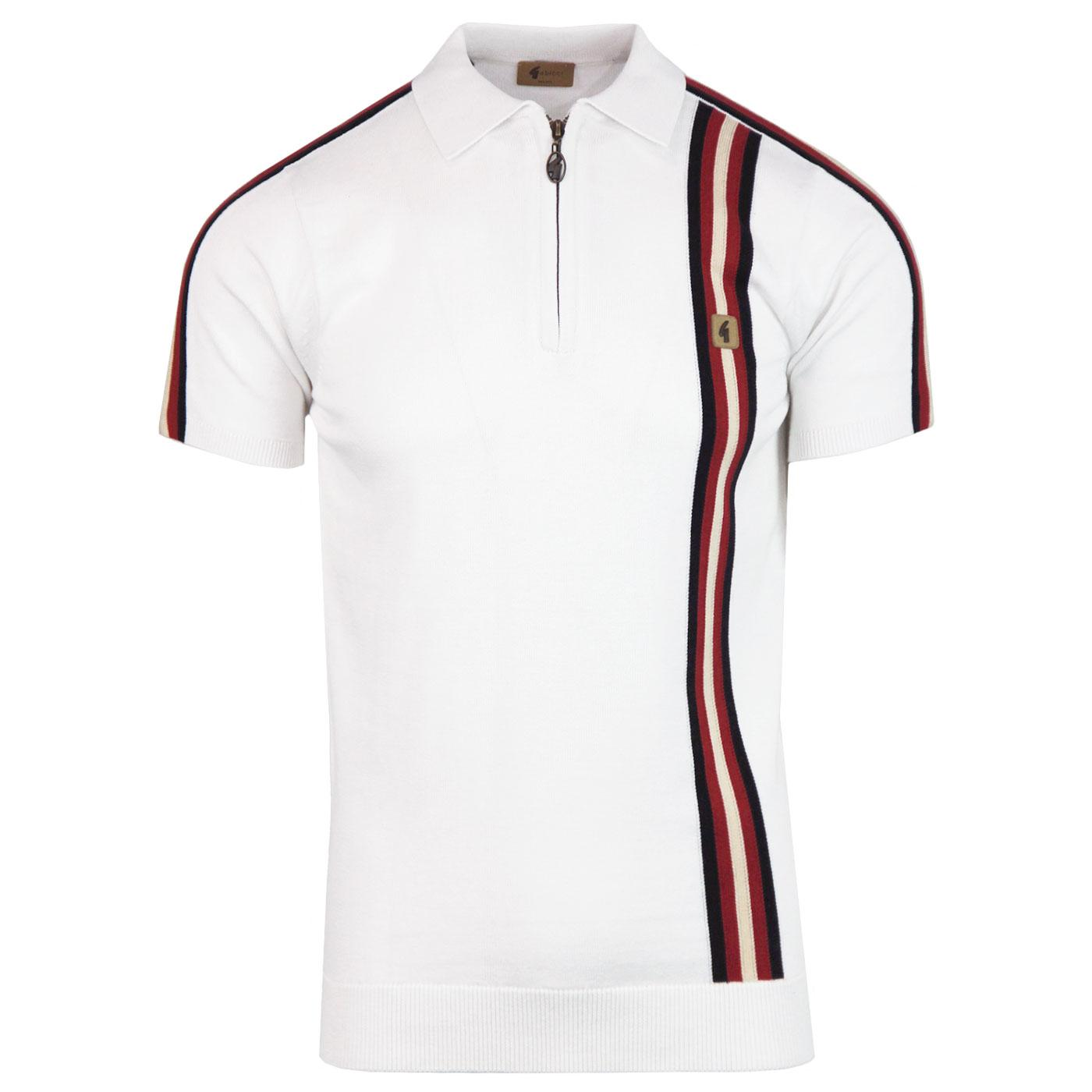 Langton GABICCI VINTAGE Mod Zip Neck Polo Shirt