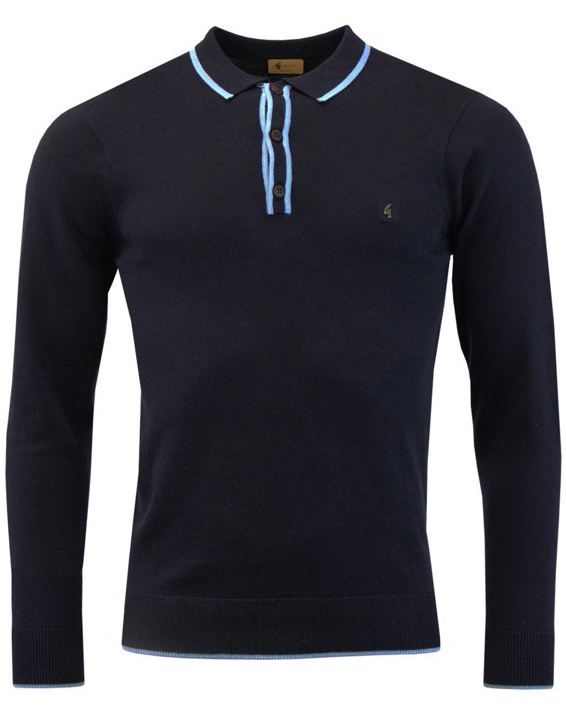 Lineker GABICCI VINTAGE Mod Tipped Knit Polo Shirt