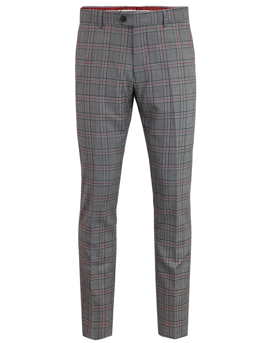 Aspen GABICCI VINTAGE Mod POW Check Suit Trousers
